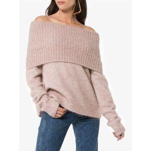 ACNE STUDIOS Daze Cowl Neck Sweater S Off Shoulder